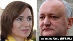 Кандидаты в президенты Майя Санду и Игорь Додон.