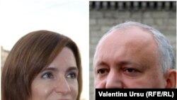 Lidera PAS, Maia Sandu și președintele Igor Dodon se confruntă în al doilea tur al prezidențialelor, duminică, 15 noiembrie 2020.
