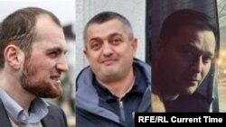 От ляво надясно: Тимур Куашев, Руслан Магомедрагимов и Никита Исаев. Тримата са били следени от същите служители на ФСБ, които бяха засечени от журналисти по случая с отравянето на Навални, и са починали на място, на което са се намирали и тези служители.