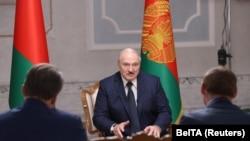 Александр Лукашенко дает интервью российским средствам массовой информации, 8 сентября 2020 год