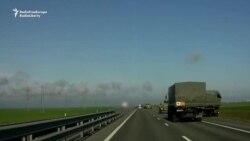Video | Un convoi militar a fost filmat pe autostrada care leagă Rusia de Crimeea