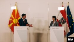 Вицепремиерот Никола Димитров и австриската министерка за Европа, Каролине Едштадлер