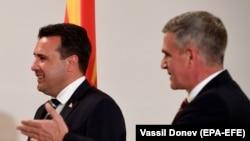 Софија- македонскиот премиер Зоран Заев и бугарскиот службен премиер Стефан Јанев, 17.07.2021