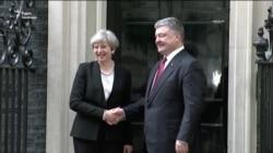 Порошенко зустрівся з прем'єр-міністром Великої Британії