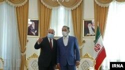 علی شمخانی، دبیر شورای عالی امنیت ملی ایران و فواد حسین، وزیر خارجه عراق