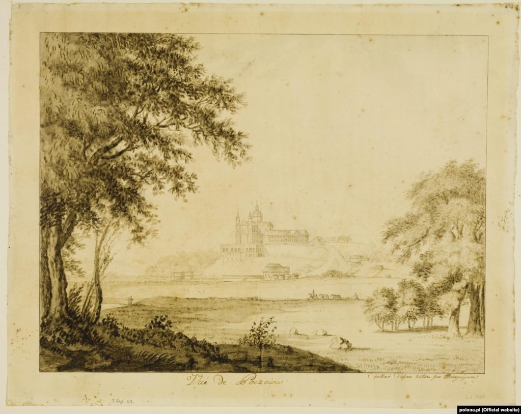 Вигляд на Почаївську лавру. Малюнок 1794 року