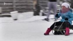 Как Севастополь снегом засыпало (видео)