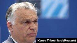 Orbán Viktor miniszterelnök Brüsszelben 2021. június 14-én