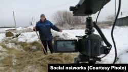Владимир Белов снимает очередной сюжет для своего ютьюб-канала