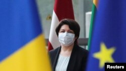 Premierul Natalia Gavrilita în prima vizită oficială la UE, Bruxelles, 27 septembrie 2021.