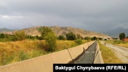 Один из каналов в Аламудунском районе.