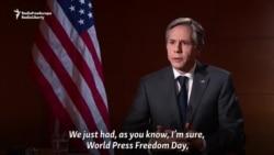 Blinken: Russia Undermining Press Freedom, Targeting RFE/RL