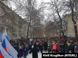 Акция протеста в поддержку Навального в Вологде