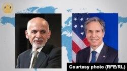 محمد اشرف غنی رئیس جمهور افغانستان و انتونی بلینکن وزیر خارجه امریکا