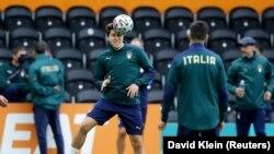 Италия командасынын машыгуусу.