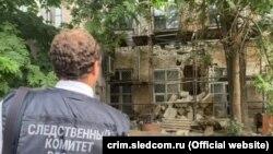 Обрушение части здания в Симферополе по ул. Пушкина 10 августа 2021 года