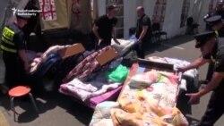 Թբիլիսիի ոստիկանությունը հեռացրել է Ռուսթավելիի պողոտայում տեղադրված վրանները
