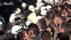 Protesters Demand Release Of Detainees At Belgrade Police Station