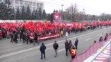 Marș și miting electoral PSRM la Chișinău. Mesaje pro-și contra