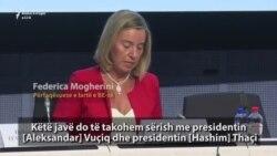Mogherini do të takohet me Thaçin dhe Vuçiqin