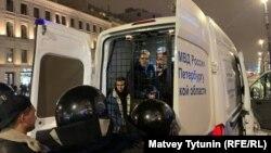 Задержанные во время акции 2 февраля, Петербург
