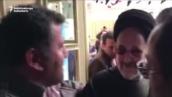 Former Iranian President Khatami Votes Amid Cheers