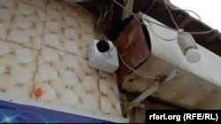 جلالاباد ښار کې پر یوه دکان نصب شوې امنیتي کمره
