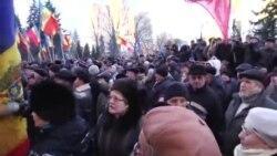 Протестующие окружили здание парламента Молдовы