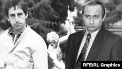 Михаил Осетинский и Владимир Путин, коллаж