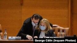 Președintele Camerei Deputaților, Ludovic Orban, și președintele Senatului, Anca Dragu, s-au vaccinat, marți, împotriva COVID-19.