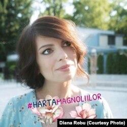 Diana Robu, storyteller la Hospice Casa Speranței, a realizat prima hartă a magnoliilor din București.