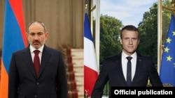 ნიკოლ ფაშინიანი, სომხეთის პრემიერ-მინისტრი. / ემანუელ მაკრონი, საფრანგეთის პრეზიდენტი.