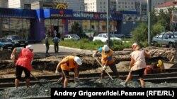 Фотоархив: масштабная реконструкция улицы Тукая