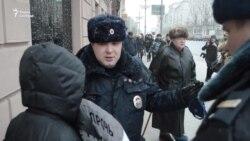 Задержание активистов на акции в поддержку Ильдара Дадина