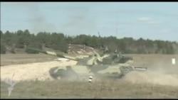 Ukrayna ordusu Belarus sərhəddində təlim keçir