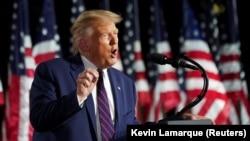 Претседателот на САД Доналд Трамп, во говорот за прифаќање на претседателската кандидатура
