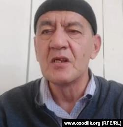 """""""Haqiqat va Taraqqiyot"""" partiyasi faoli Muhammadamin Shermatov."""
