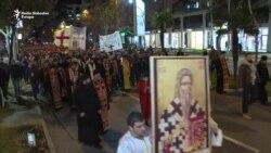 Gost iz Ruske crkve na protestnoj litiji u Podgorici