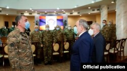 Armenia - Prime Minister Nikol Pashinian meets with the Armenian military's top brass, March 10, 2021.