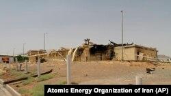 ساختمان تخریب شدهای دستگاه هستهای نطنز در ایران
