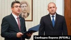 Пламен Николов, мандатар за состав на новата влада и Румен Радев, претседател на Бугарија