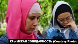 CRIMEA - Sоhiba Burkhanova, wife of a citizen of Uzbekistan Nabi Rakhimov who was killed in Crimea, 12May2021