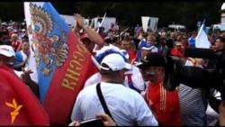 Марш і бійка російських уболівальників у Варшаві