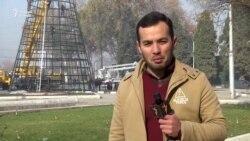 Арчаи 25-метрӣ дар маркази Душанбе
