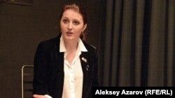 Автор идеи и продюсер спектакля о похищении невесты Марина Константинова. Алматы, 19 января 2017 года.