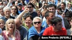 Protest opozicije 2013. godine u Podgorici, ilustrativna fotografija