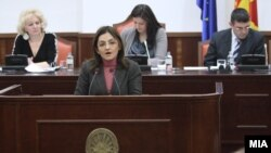 Обраќање на Министерката за внатрешни работи, Гордана Јанкулоска пред собранискиот Комитет за односи меѓу заедниците.