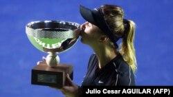 Українська тенісистка Еліна Світоліна після перемогла на турнірі серії WTA International у мексиканському Монтерреї, 8 березня 2020 року