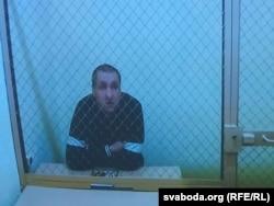 Аляксандар Арановіч на дыстанцыйным судзе ў ліпені 2020 года