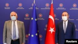ԵՄ արտաքին քաղաքականության և անվտանգության հարցերով Բարձր ներկայացուցիչ Ժոզեպ Բորելը և Թուրքիայի ԱԳ նախարար Մևլութ Չավուշօղլուն, արխիվ